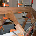 Restored Wood Boat Frame